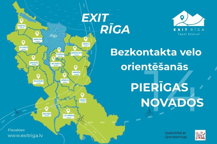 """""""""""EXIT RĪGA"""" velo orientēšanās 2020"""" sāksies 20.maijā"""